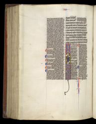 Historiated Initial With St. John And His Symbol, In A Glossed Gospels f.226v